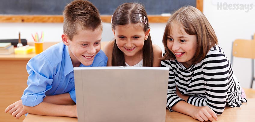 Children Surfing Internet